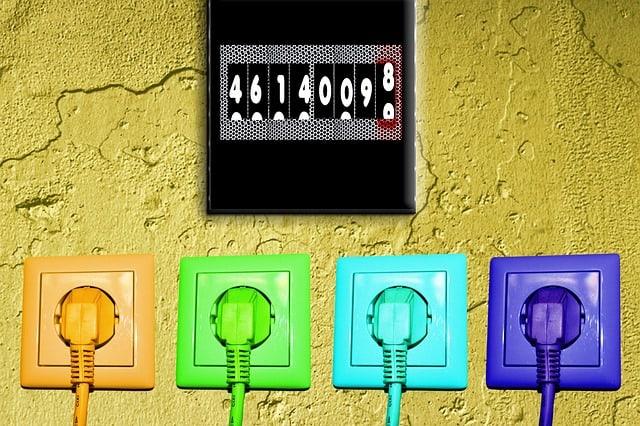 compteur électricité prise électrique