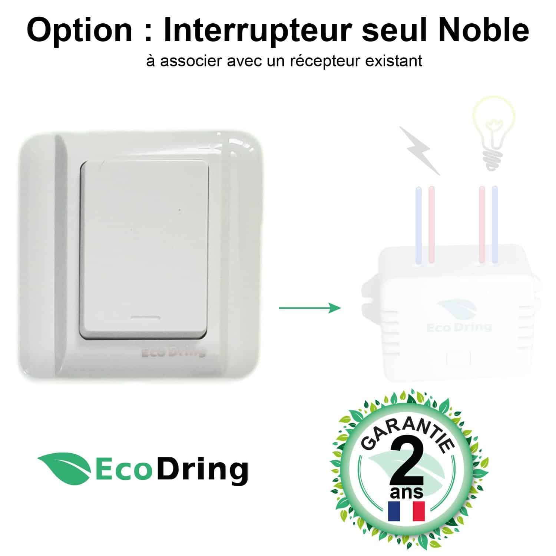 interrupteur sans fil sans pile interelec 1000w port e jusqu 30 m tres garantie 2 ans ecodring. Black Bedroom Furniture Sets. Home Design Ideas